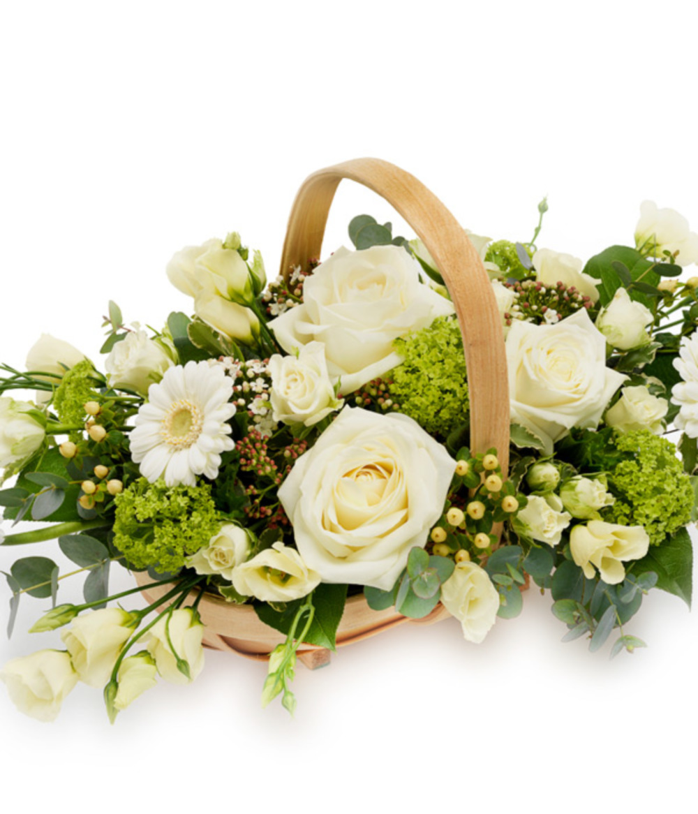 White Basket Arrangement