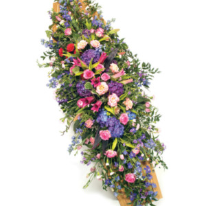 Coffin Flowers Pink & Mauve
