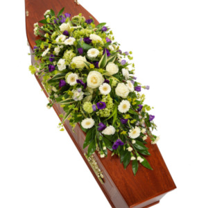 Coffin Flowers Purple & White