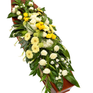 Coffin Flowers Yellow & White